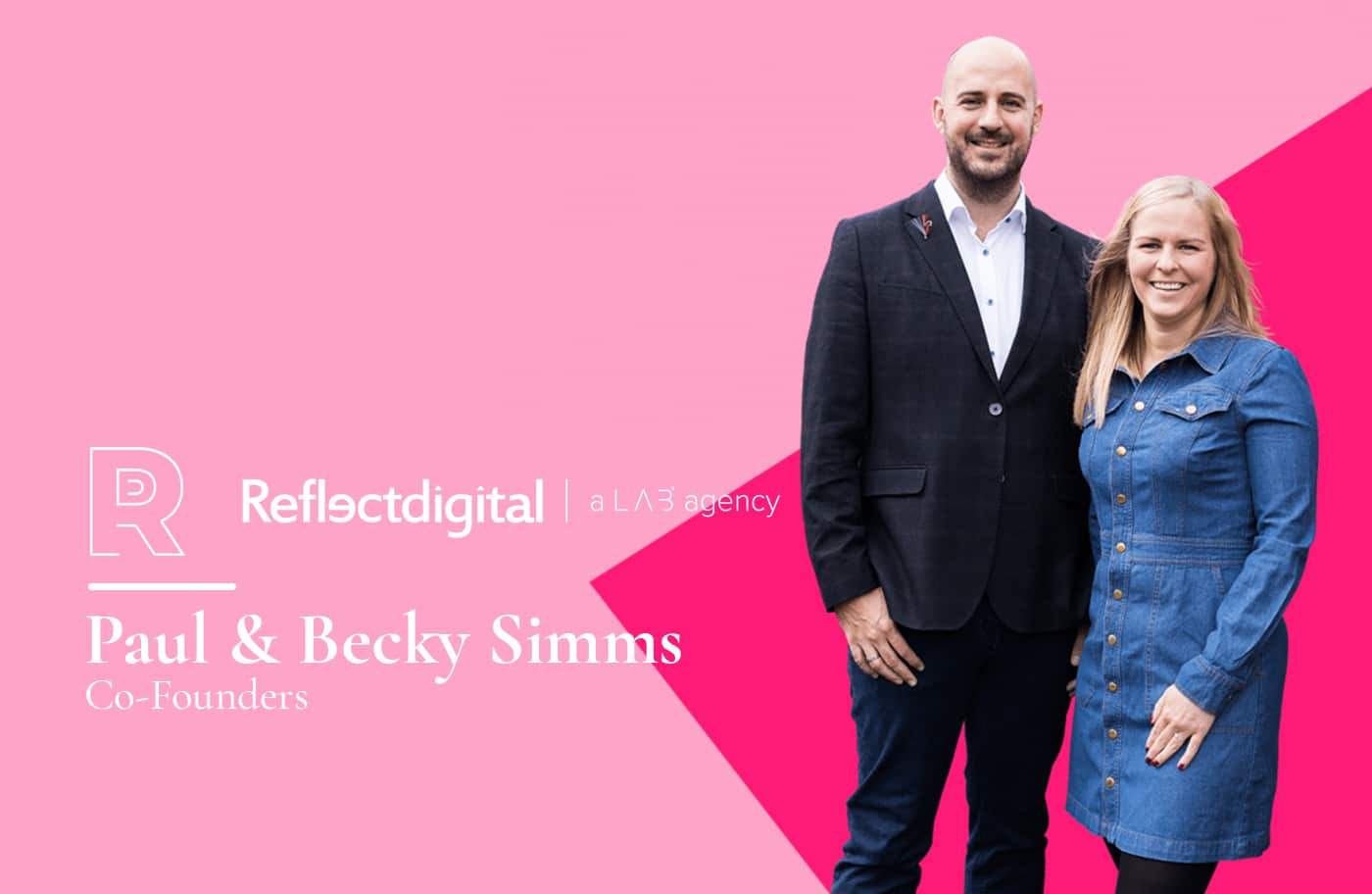 Becky Simms and Paul Simms founders of Reflect Digital in Maidstone